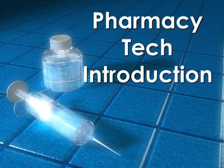 Pharmacy Tech Introduction. Pharmacy Technicians Individuals working in a pharmacy who, under the supervision of a licensed pharmacist, assist in activities.