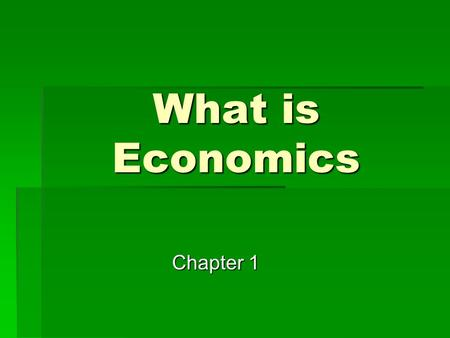 What is Economics Chapter 1. Words to Know  Needs  Things that a person cannot live without  Food  Clothing  Shelter  Air.