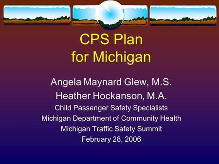 Introduction to Child Passenger Safety Programs Kate Bernacki