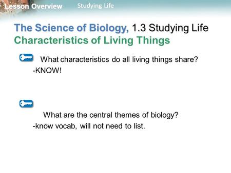 What characteristics do all living things share? -KNOW!