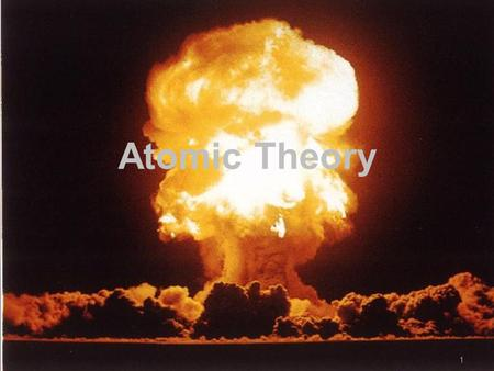 11 Atomic Theory. 2 A HISTORY OF THE STRUCTURE OF THE ATOM.