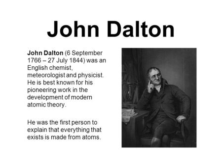 john dalton year of discovery