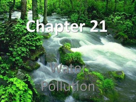 Chapter 21 Water Pollution. Vocabulary Water pollution- any chemical, biological, or physical change in water quality that has a harmful effect on living.