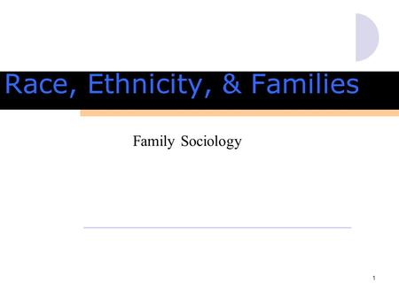 1 Family Sociology Race, Ethnicity, & Families. 2 Race, Ethnicity & Families How do we define race? How do we define ethnicity?