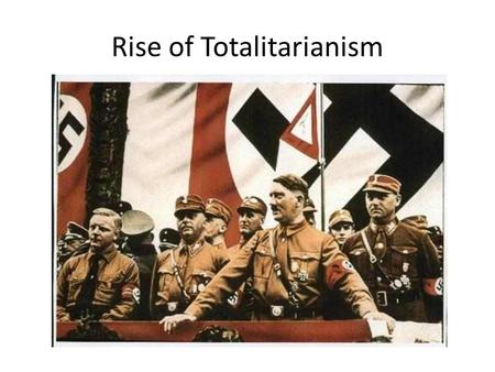 """The Rise of Fascism in Europe in the Twentieth Century: Lessons for Today"""