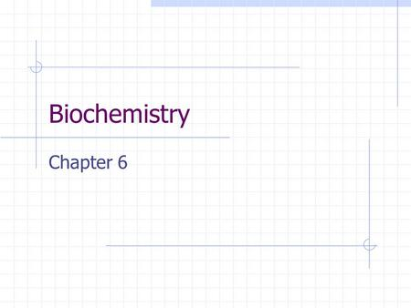 Biochemistry Chapter 6. Atoms and their interactions.
