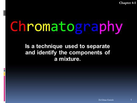 Chapter 4-1 Chromatography