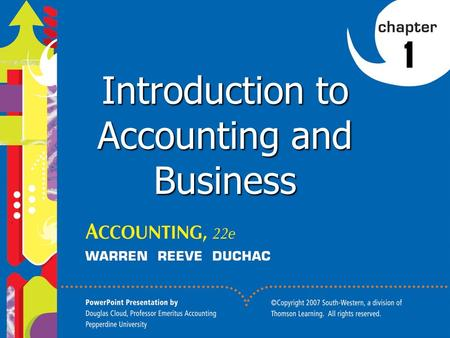 1 1 Introduction to Accounting and Business. 2 2. Summarize the development of accounting principles and relate them to practice. 3. State the accounting.