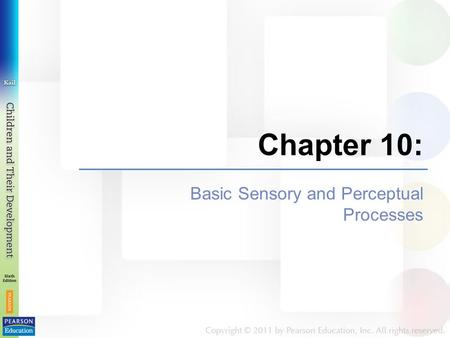 Chapter 10: Basic Sensory and Perceptual Processes.