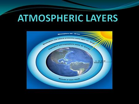 Why is the Atmosphere Important? Weather exists because of the atmosphere. It makes the Earth suitable for living things. The atmosphere is the layer.