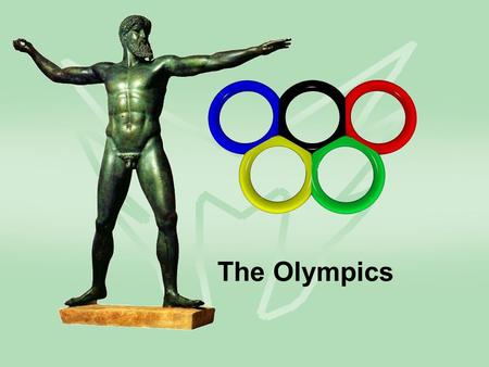 The Olympics. Group work You will be given cards with an Olympic event on them. Your group has to describe the event without saying the name. How would.