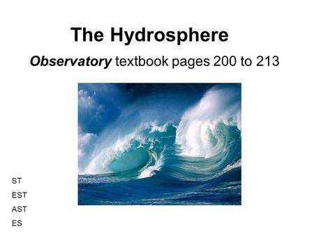 Observatory textbook pages 200 to 213
