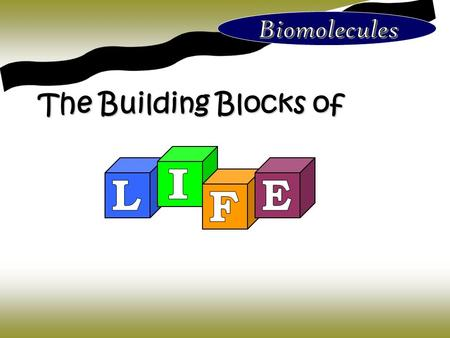 The Building Blocks of. In your table groups make as many observations as you can about the diagram on the left.