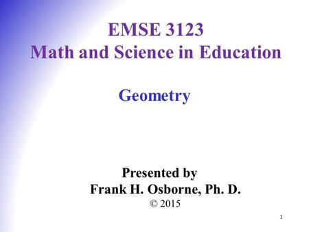 EMSE 3123 Math and Science in Education
