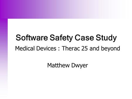 therac 25 case study ppt