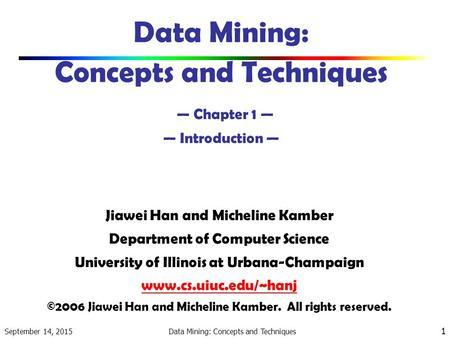 Data Mining Concepts Techniques Han Kamber Ebook