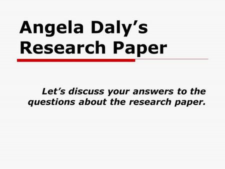 questions to answer in a research paper It will not answer all of your questions and it does not give specific details about writing a research paper if you have any further questions or need any additional information.