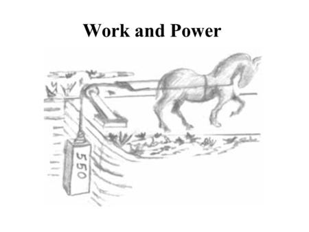 Work and Power Work is the transfer of energy that results from applying a force over a distance –if nothing moves, no work was done unit of measurement.
