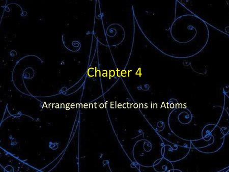 Chapter 4 Arrangement of Electrons in Atoms. Starter Look at the colors on a computer screen. What do you notice? Close inspection reveals that they are.