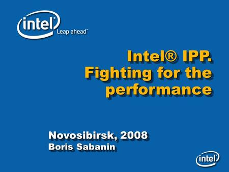 intel ipp download
