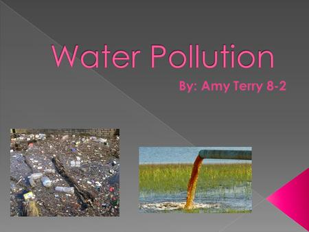 Water Pollution By: Amy Terry 8-2.