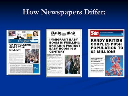 How Newspapers Differ: Devolution in Northern Ireland How far down the path to devolution is Northern Ireland?