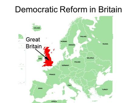 Democratic Reform in Britain