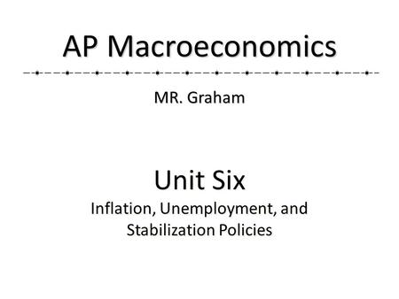 Unit Six Inflation, Unemployment, <strong>and</strong> Stabilization <strong>Policies</strong> Unit Six Inflation, Unemployment, <strong>and</strong> Stabilization <strong>Policies</strong> AP Macroeconomics MR. Graham.