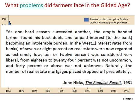 What problems did farmers face in the Gilded Age?