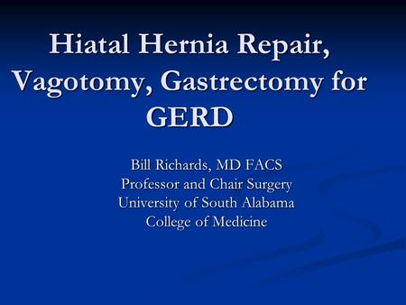 Paraesophageal Hiatal Hernia - ppt video online download