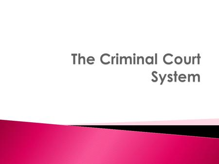  Responsibility for Canada's criminal courts is divided between the Federal and Provincial governments.  The Federal parliament: ◦ Responsible for formulating.