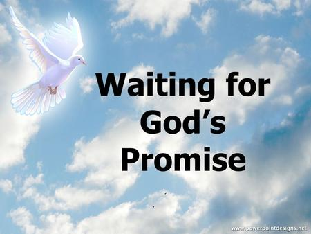 Waiting for God's Promise