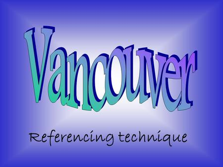 Penulisan Daftar Pustaka Sistem Vancouver Penulisan Daftar Pustaka
