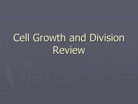 Cell Growth and Division Review. Team 1 Name the… Molecule that controls cell activity with coded instructions.