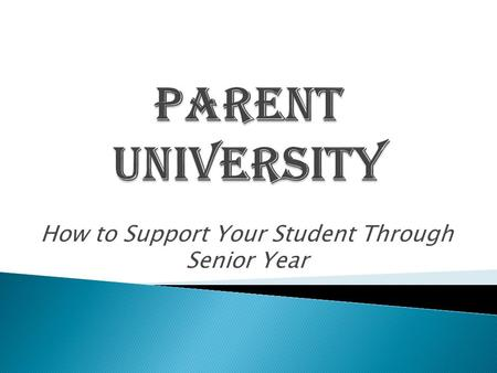 How to Support Your Student Through Senior Year.  Ms. Howell –  Availability: ◦ Lunch Periods ◦ After School ◦ By Appointment  Location: