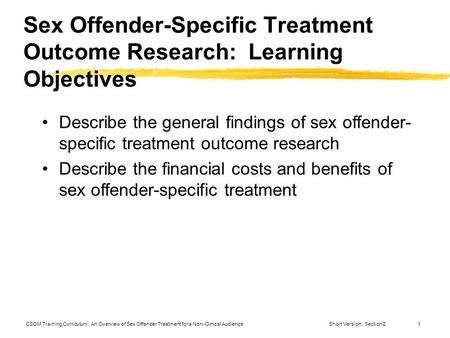 Ppt sex offender treatment spritual
