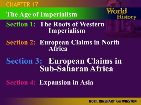 Section 3: European Claims in Sub-Saharan Africa
