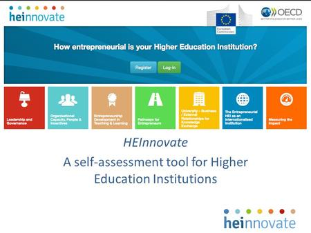 HEInnovate A self-assessment tool for Higher Education Institutions.