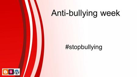 Anti-bullying week #stopbullying.