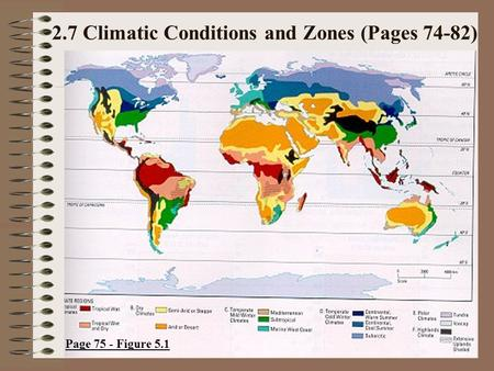 2.7 Climatic Conditions and Zones (Pages 74-82)