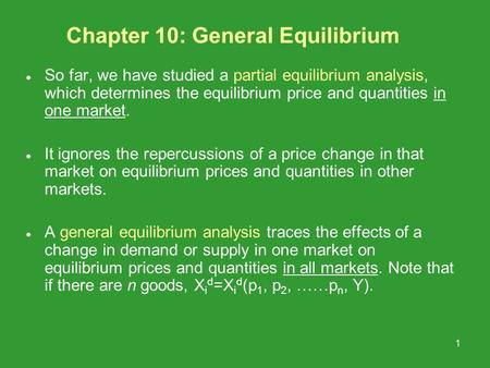 Ppt general equilibrium and market efficiency powerpoint.
