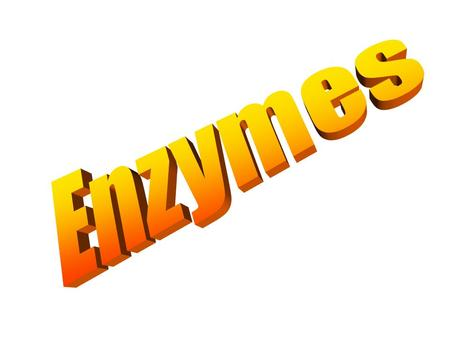 Enzymes are ORGANIC CATALYSTS! Enzymes are proteins (made up of amino acids) Enzymes function by lowering the activation energy of reactions. Enzymes.