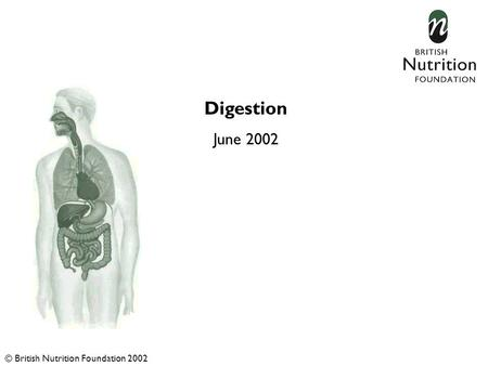 Digestion June 2002 © British Nutrition Foundation 2002.