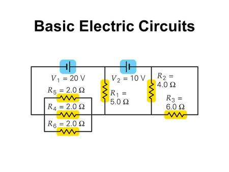 Basic Electric Circuits. A series connection has a single path from the battery, through each circuit element in turn, then back to the battery. Resistors.