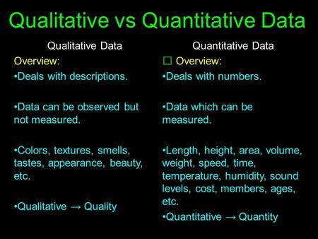 Observations Review Concepts Qualitative Vs Quantitative Data