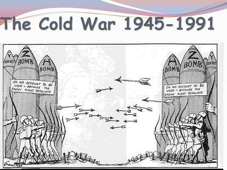 The Cold War 1945-1991 Two sides of Cold War NATO – North Atlantic Treaty Organization USA, France, Great Britain, West Germany CAPITALISM CAPITALISM.