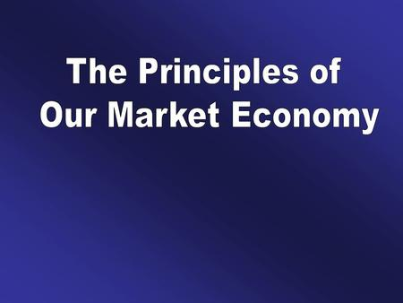 I. The Circular Flow of Economic Activity A healthy market depends on a flow of resources, goods, and services.
