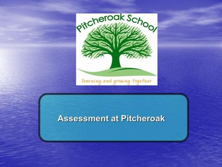 Assessment at Pitcheroak. Learning Objectives… To understand what the different assessment tools are called at Pitcheroak To understand that assessment.