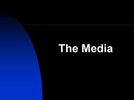 The Media. Learning Objectives: By the end of the today's lesson you should have a knowledge and understanding of: - consider what the main media formats.