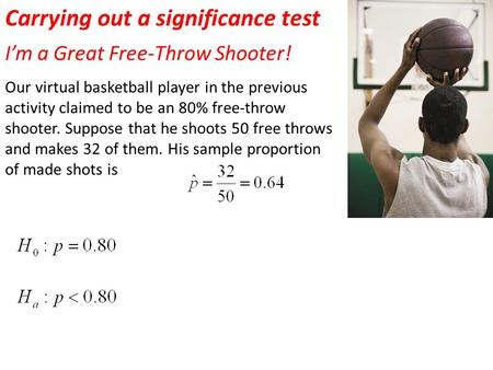 Carrying out a significance test
